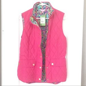 Lilly Pulitzer Medium Getaway Quilted Vest NWT